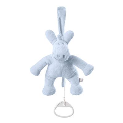 Peluche bébé mini musical paco bleu cocon Noukies