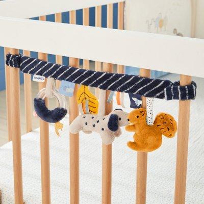 Jouet de lit bébé spirale d'activités aston et jack Noukies