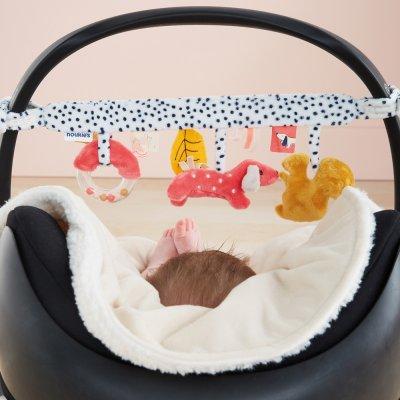 Jouet de lit bébé spirale d'activités amy et zoé Noukies