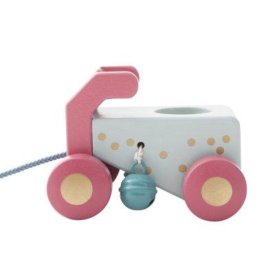 Jouet d'éveil bébé en bois voiture à tirer lola anniversaire Noukies