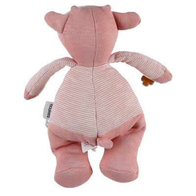 Peluche coton bio lola rose 25 cm Noukies