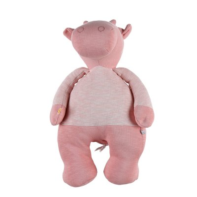 Peluche coton bio lola rose 40 cm Noukies