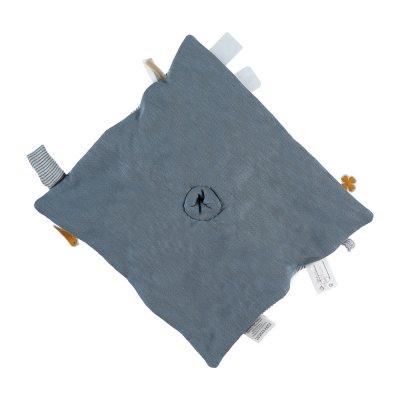 Doudou coton bio paco bleu Noukies