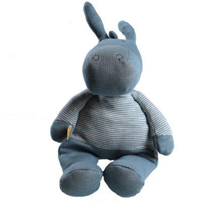 Peluche coton bio paco bleu 25 cm Noukies