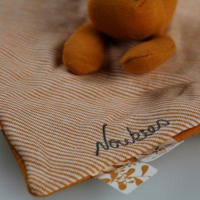 Doudou coton bio paco ocre Noukies