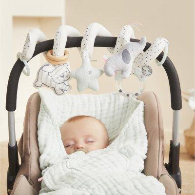 Jouet de lit bébé spirale d'acitivtés anne et milo Noukies
