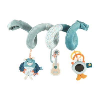 Jouet de lit bébé spirale d'activités monstres Noukies