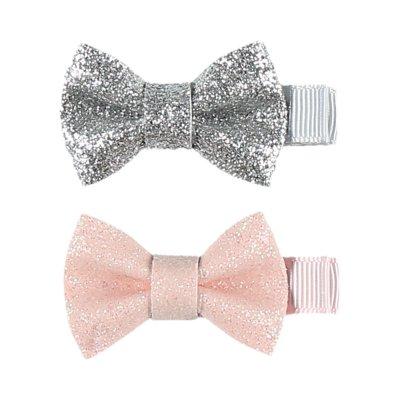 Accessoire pour cheveux 2 pinces noeuds glitter Noukies