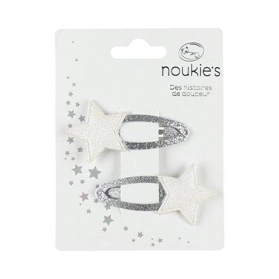 Accessoire pour cheveux 2 pinces étoiles glitter Noukies