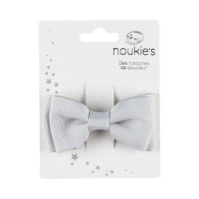 Accessoire pour cheveux pince gros noeud gris Noukies