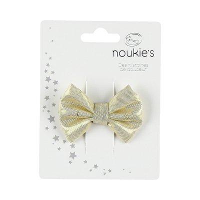 Accessoire pour cheveux pince noeud doré Noukies