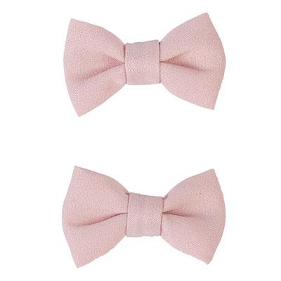 Lot de 2 pinces à cheveux noeuds rose pâle Noukies