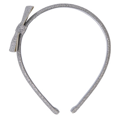 Accessoire pour cheveux serre-tête noeud glitter argent Noukies