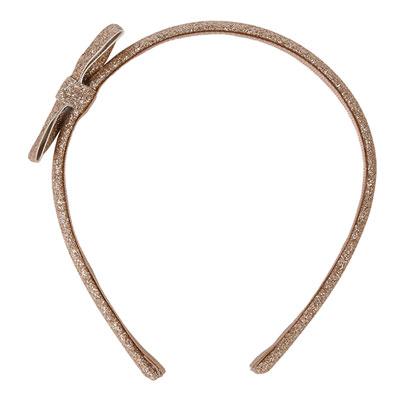 Accessoire pour cheveux serre-tête noeud glitter or Noukies