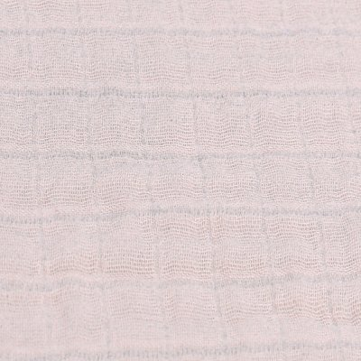 Lot de 2 langes 100 x 100 cm mousseline bio rose clair Noukies