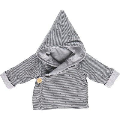 Ensemble bébé 3 pièces cocon veste mantelet gris Noukies