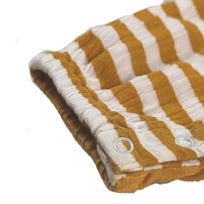Combi-short rayé jaune en coton bio Noukies