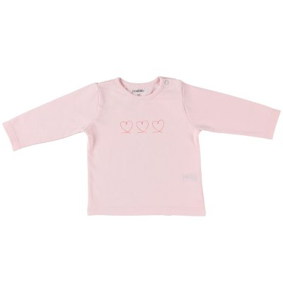 Ensemble cardigan , tee-shirt et legging rose en coton bio Noukies