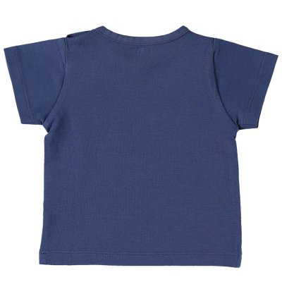 Ensemble tee-shirt et short bleu en jersey de coton bio Noukies