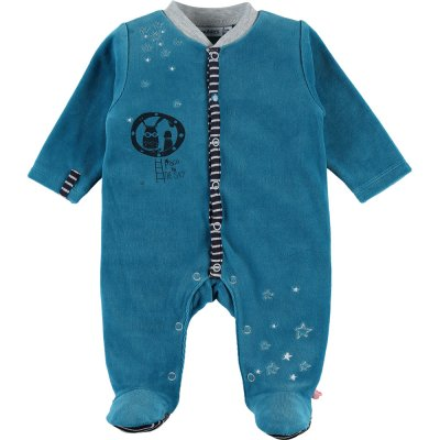 Pyjama dors bien velours imagine bleu Noukies