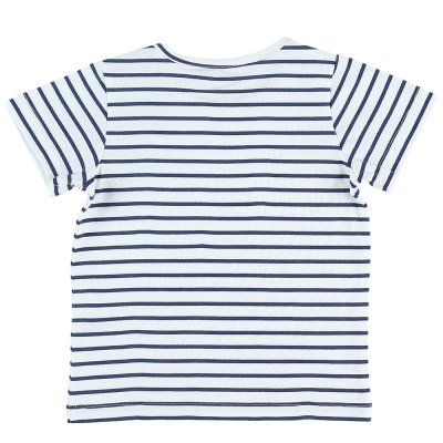 Ensemble salopette et tee-shirt bleu denim Noukies