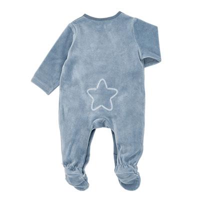 Pyjama dors bien velours lagon graph boy Noukies