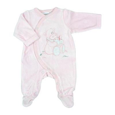 Pyjama dors bien velours rose cocon girl Noukies