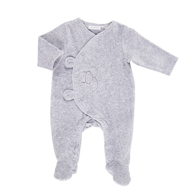 Pyjama dors bien velours gris mix and match Noukies