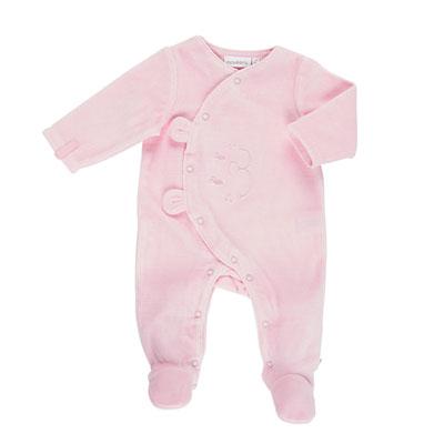 Pyjama dors bien velours rose mix and match 2017 Noukies