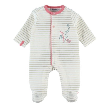 Pyjama dors bien velours rayé smart girl Noukies