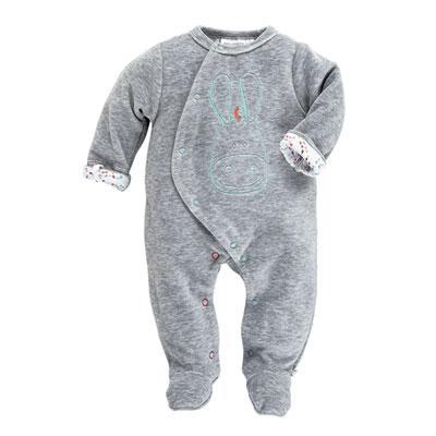 Pyjama dors bien velours gris peps boy Noukies