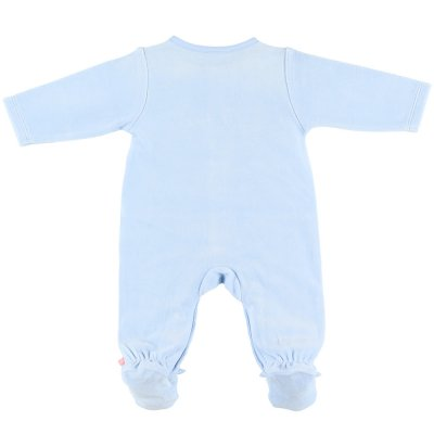 Pyjama dors bien velours smart boy bleu clair Noukies