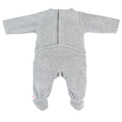 Pyjama dors bien velours smart boy gris clair Noukies