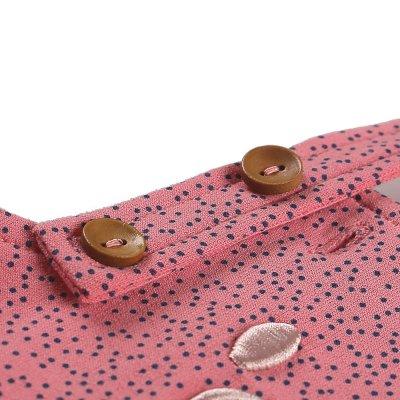 Salopette rose avec tee-shirt en coton bio Noukies