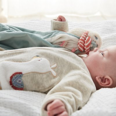 Pyjama dors bien velours sable moris et sacha Noukies