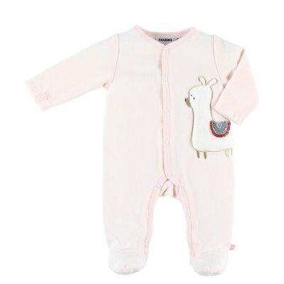 Pyjama dors bien velours rose moris et sacha Noukies