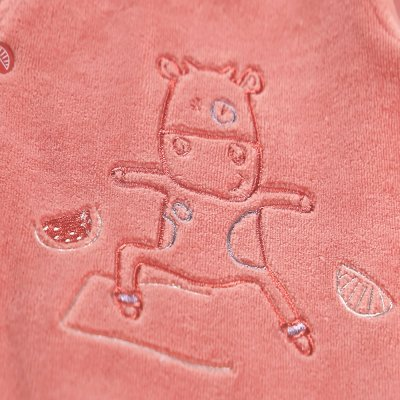 Pyjama dors bien velours imagine corail lola yoga Noukies