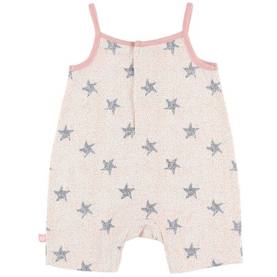 Pyjama combishort bord de mer fille rose Noukies