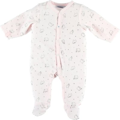 Lot de 2 pyjamas velours cocon rose et blanc Noukies