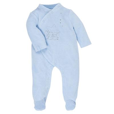 Pyjama bébé poudre d'étoiles bleu Noukies