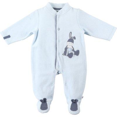 Pyjama dors bien velours smart boy bleu Noukies