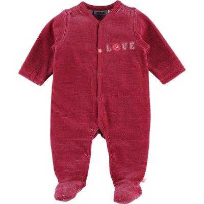 Pyjama dors bien velours lurex framboise Noukies