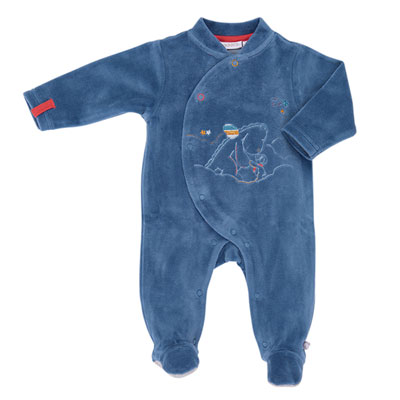 Pyjama dors bien bébé guss et victor bleu Noukies