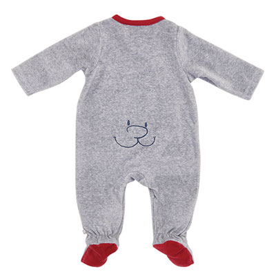 Pyjama dors bien velours gris bord de mer garçon Noukies