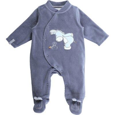 Pyjama dors bien velours smart boy océan Noukies