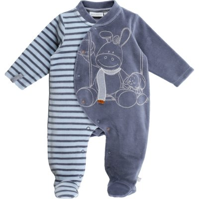 Pyjama dors bien velours smart boy rayé océan Noukies