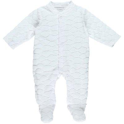 Pyjama dors bien velours cocon nuages blanc Noukies