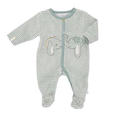 Pyjama dors bien velours rayé graphique boy Noukies