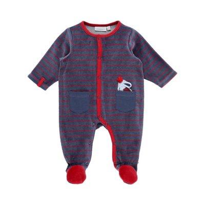 Pyjama dors bien velours bord de mer boy rayé Noukies