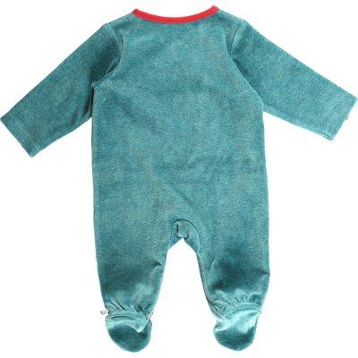 Pyjama dors bien velours peps boy turquoise Noukies
